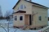 Дом по проекту ЕВ-33 (зимняя подготовка дома под обшивку сайдингом с соффитами)