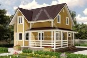 небольшой дом с эркером и террасой