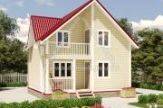 Дом с тремя фронтонами и балконом