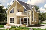 Дом с балконом и террасой 112м2