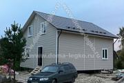 Каркасный дом 8,0х9,0м отделка сайдингом