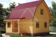Дом из бруса 7,5х6м. 67м2 с ломаной крышей