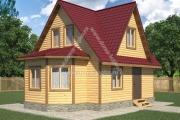 Дом с эркером и тремя фронтонами 6х8