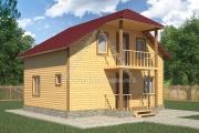 дом с балконом 6х8
