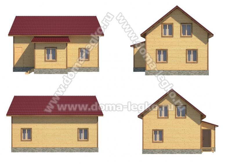 Дом в полтора этажа