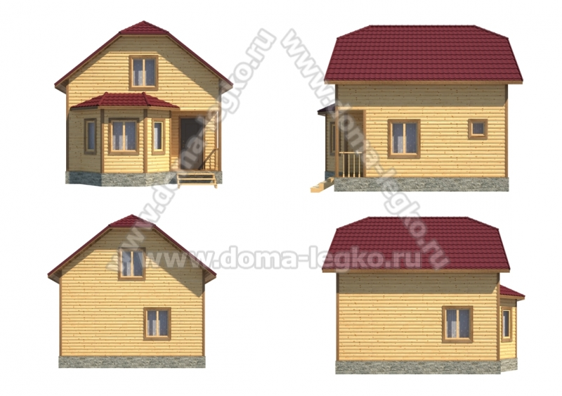 Дачный дом 6 на 6