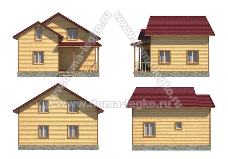 Проект дома № Д43. Размер 7х8м.