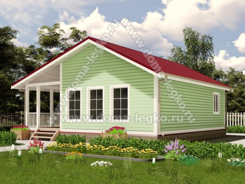 Одноэтажный дом до 100м2