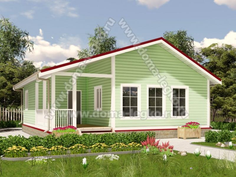 Одноэтажный дом до 100 квадратов