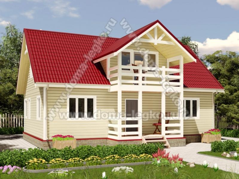 Дом 160м2 с балконом и террасой под сайдинг