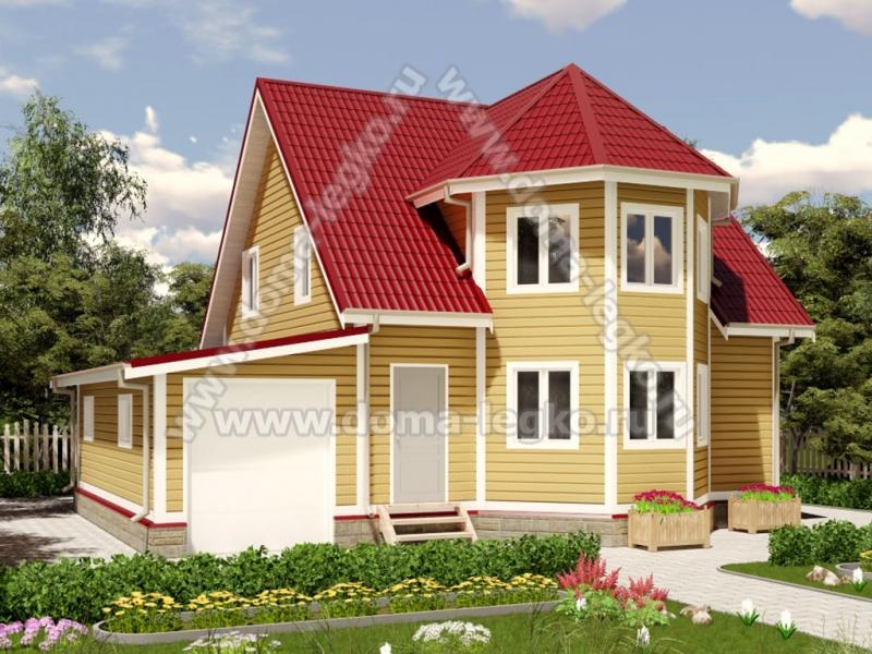 Дом с гаражом 11х9,5м