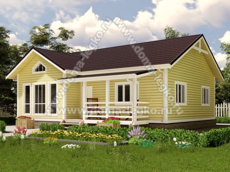 Большой одноэтажный дом 100м2