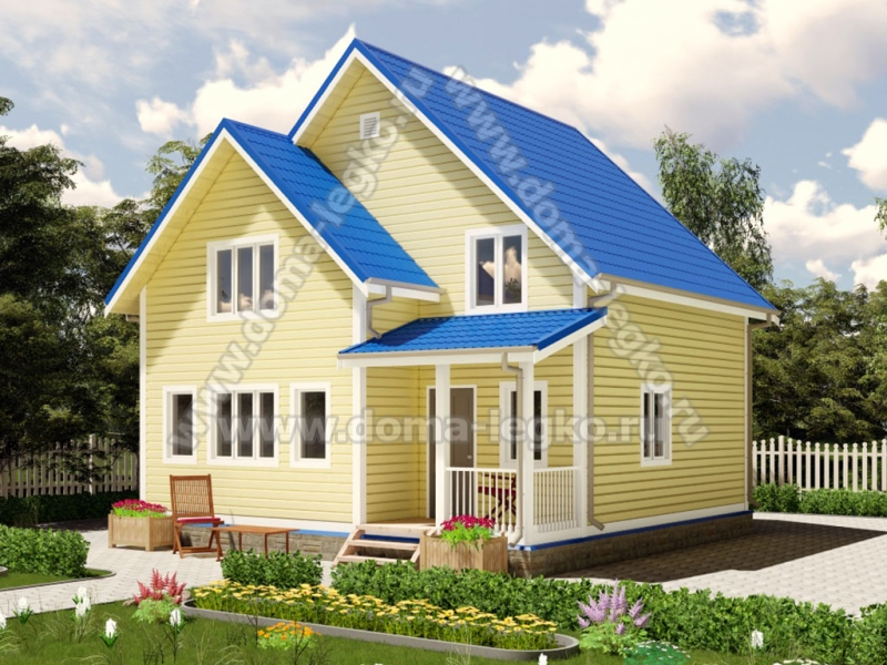 Хороший загородный дом на сто квадратов