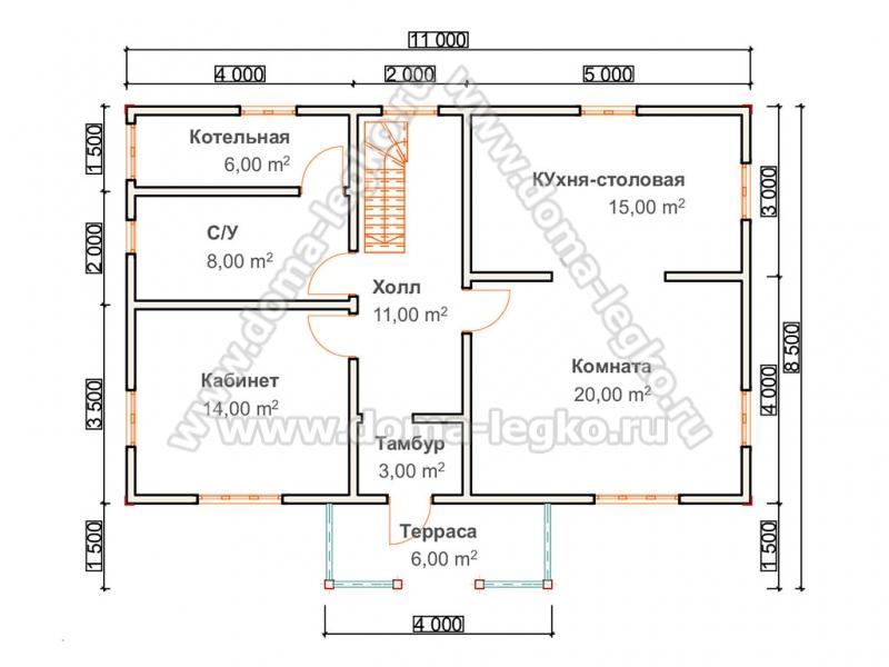 проект Дома 160м2 с балконом и террасой под сайдинг