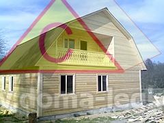 Большой дом на дачу 9х8