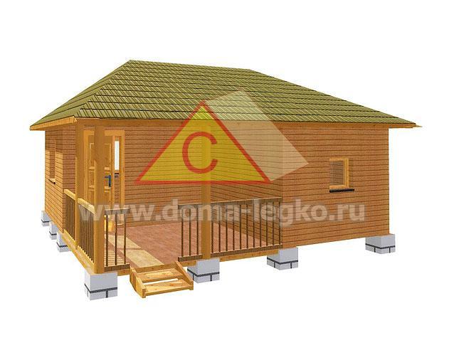 баня с шатровой крышей