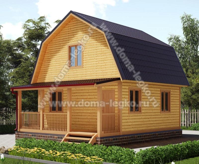 Дом 6х7,5 62,5м2 с ломаной крышей с террасой