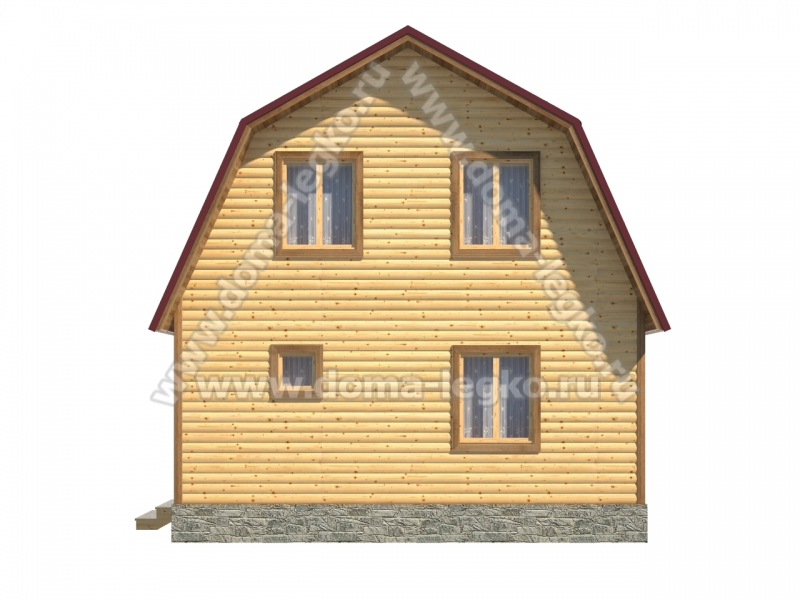 Дачный дом 6х6м.