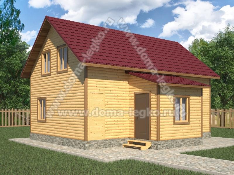 Дом в полтора этажа 6,0х9,0м