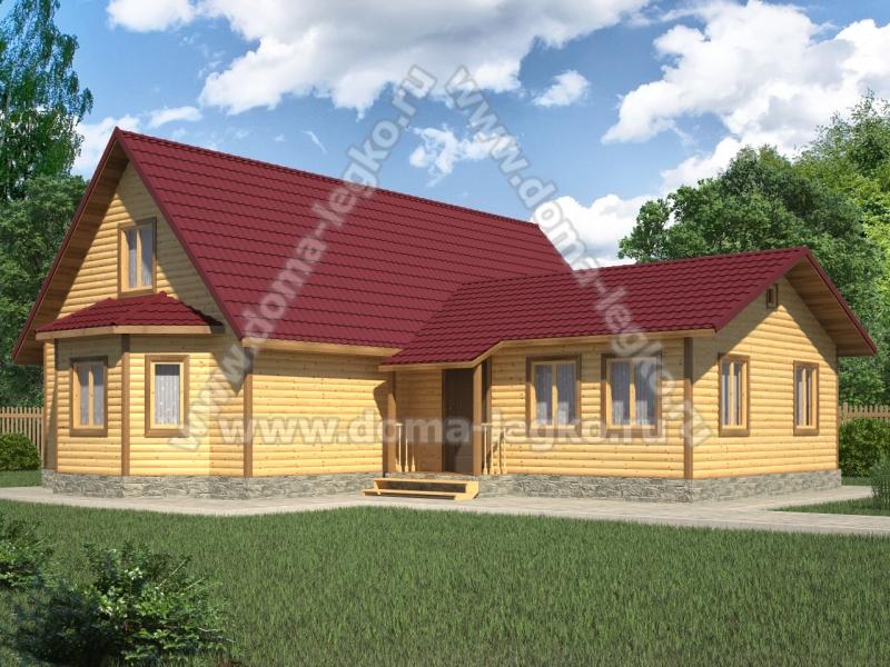 дом-баня 12х6м+6х6.